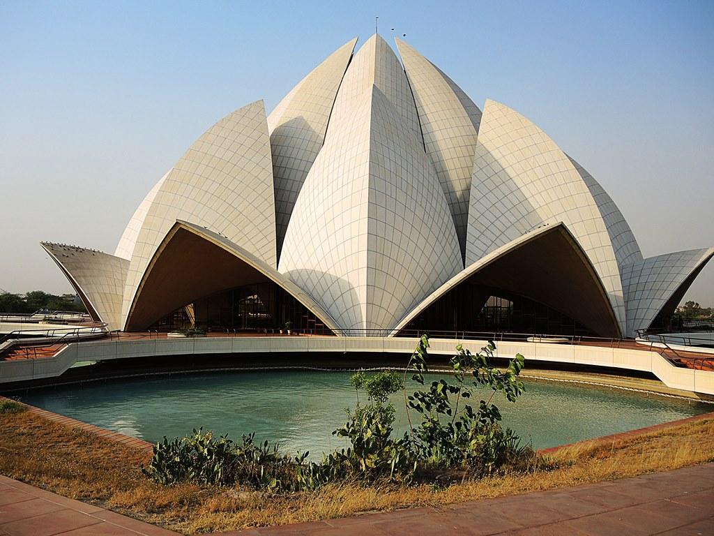 достопримечательности в индии, красивые фото индии, ньюдели, храм индии, храм лотоса